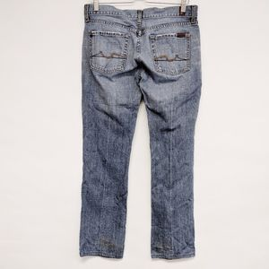 7FAM | flare mid-rise denim jeans medium wash 30